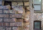 brick replacement in wall